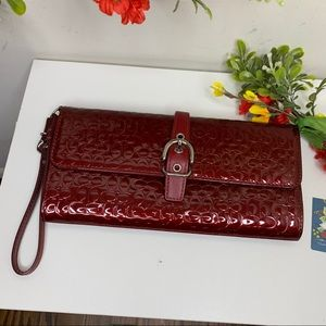 Coach Ruby Patent Leather Wristlet Wallet